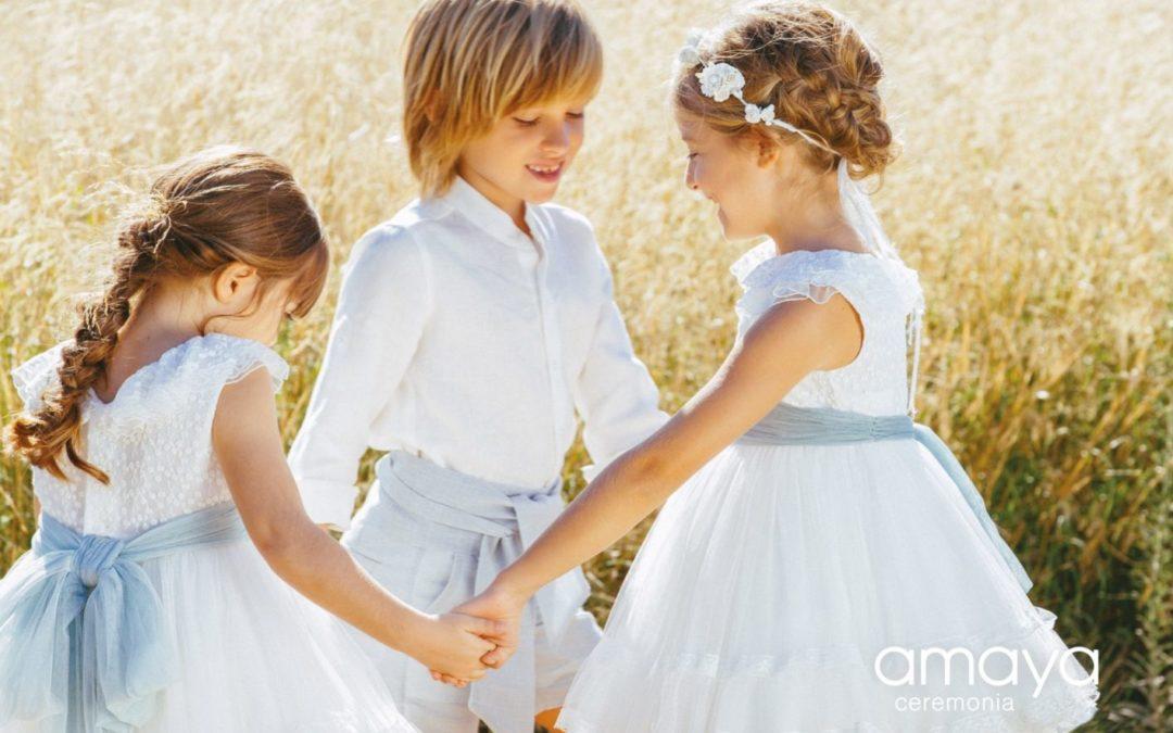 Vestits de nena i nen per a casaments 2020